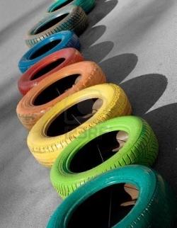 Цветные шины: «обувь»  под цвет «платья» для Вашего авто!
